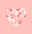 pink diamonds pattern romantic jewelry vector image vector image