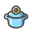 pressure cooker for cooking icon cartoon vector image