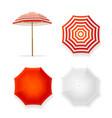 realistic detailed 3d sun umbrella set vector image vector image