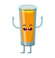 refreshing tasty juice cartoon vector image vector image