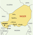 Republic of Niger - map vector image vector image