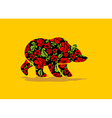 Russian Bear hohloma National Folk painting of vector image vector image