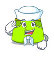 sailor character style short pant for hangout vector image vector image