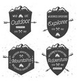 shields with mountains vintage badges vector image