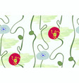 stylized modern seamless floral pattern vector image
