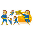 superhero character superheroes set vector image