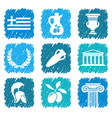 symbols of greece vector image vector image