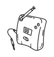 transmitter icon doodle hand drawn or outline vector image