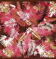 tropical floral seamless palm trees pattern vector image