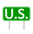 US road sign vector image vector image