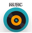 vinyl disk isolated icon vector image vector image