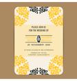 Wedding vintage wedding invitation card2 vector image vector image