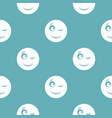 winks smile icon simple vector image