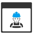 Worker Calendar Page Toolbar Icon vector image vector image