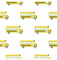 yellow school bus seamless pattern vector image