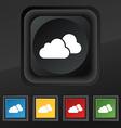 clouds icon symbol Set of five colorful stylish vector image