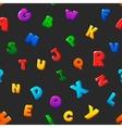 Seamless pattern cartoon kids alphabet bubble vector image