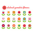 18 geometric flower vector image vector image