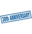 30th anniversary square stamp vector image