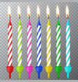 3d realistic different birthday party vector image vector image