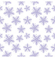 Abstract seamless pattern with snowflakes vector image