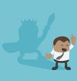 african businessman with swordsman shadow concept vector image