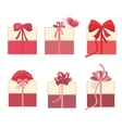 Beautiful gift boxes set vector image vector image