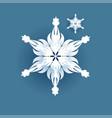big white snowflake icon vector image vector image