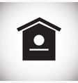 bird house on white background vector image