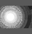 black and white stack circle technology vector image vector image