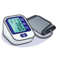 blood pressure monitor design vector image