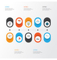 business icons flat style set with authentication vector image vector image