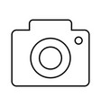 camera outline icon vector image