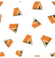 camping tent seamless pattern business concept vector image