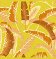 cartoon palm leaves seamless orange yellow vector image vector image
