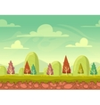 Cartoon seamless nature background vector image vector image