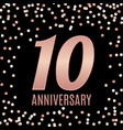 celebrating 10 anniversary emblem template design vector image vector image