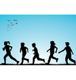 children running outdoor vector image vector image
