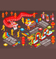 chinese new year infographics background vector image vector image