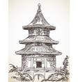 chinese style temple vector image