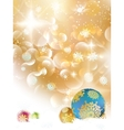 Christmas background with baubles and copyspace vector image vector image