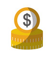 coins money dollar icon vector image vector image