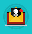concept of virus piracy hacking and security vector image vector image