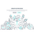 creative process - modern line design style vector image vector image
