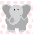 cute elephant - vector image