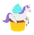 Cute unicorn fairytale animal