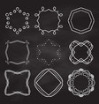 decorative frames on chalkboard background vector image