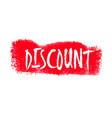 discount hand written label vector image