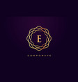 e luxury logo monogram letter design vector image