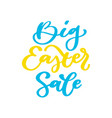 easter sale banner lettering hand drawn vector image